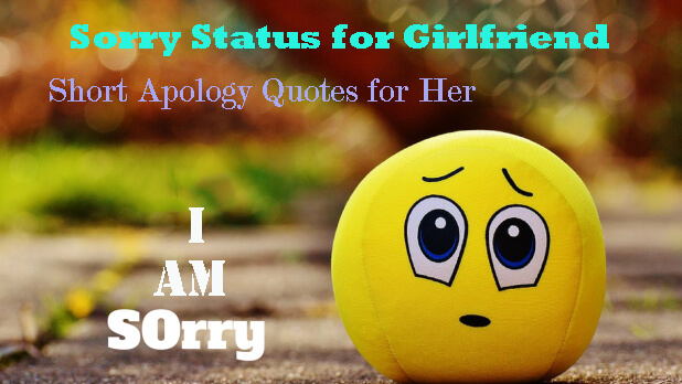 Sorry Status for Girlfriend
