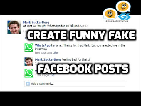Fake Facebook Post Generator