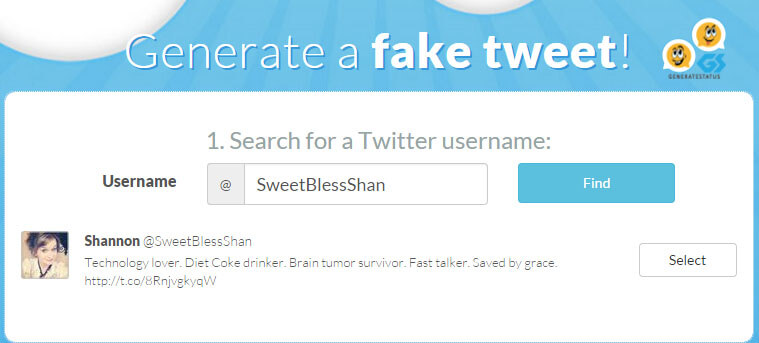 Fake Twitter Tweet Generator