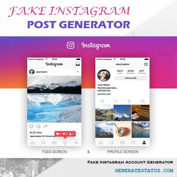 Fake Instagram Account Generator