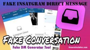Fake Instagram Direct Message Generator