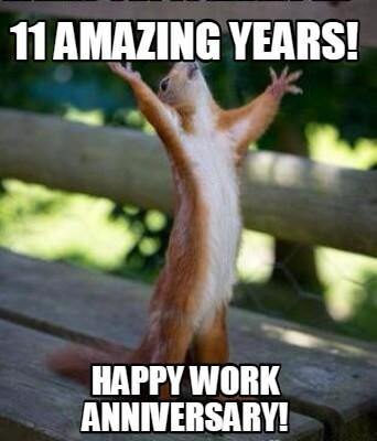 Work Anniversary Memes