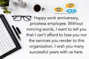 Happy Work Anniversary Status and Wishes