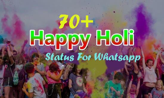 70+ Holi Status For Whatsapp