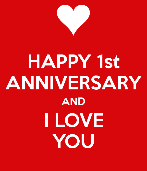 Happy 1st Anniversary Images For Couples