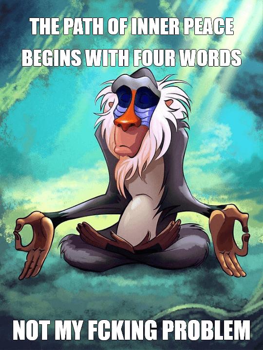 Rafiki Meditating – Lion King