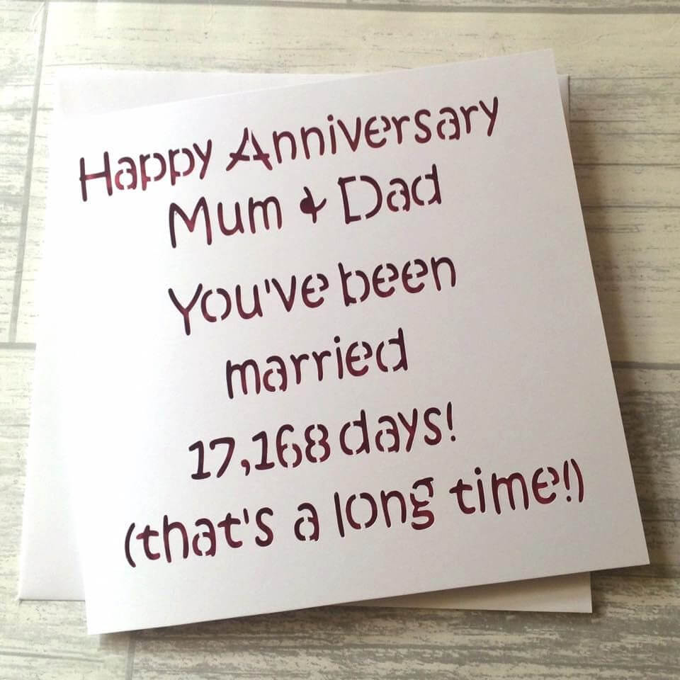 Happy Anniversary Card for mom and dad