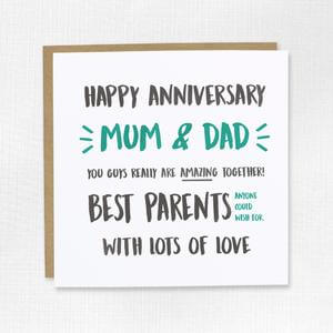 Happy Anniversary Card for parents