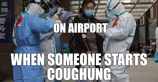 When someone starts coughing