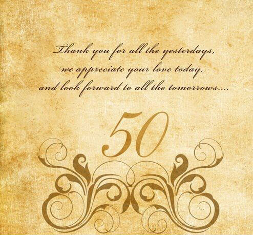 Happy 50th Anniversary Card for mom and dad