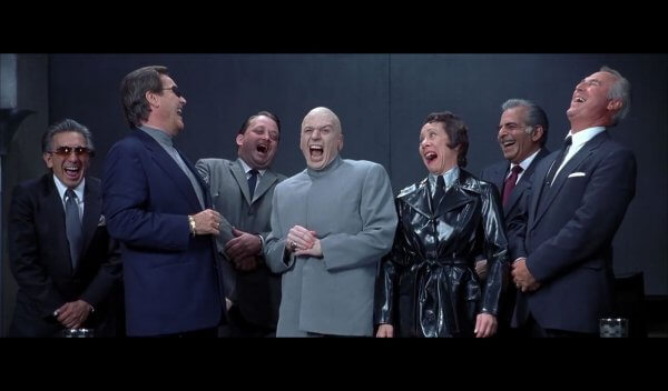 Dr Evil and Henchmen laughing Meme