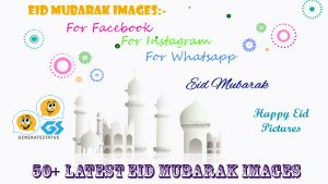 Eid Mubarak Images For Whatsapp, Facebook and Instagram