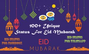 100+ Unique Status For Eid Mubarak
