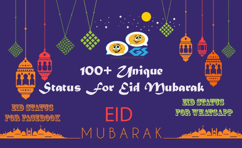 100+ Unique Status For Eid Mubarak